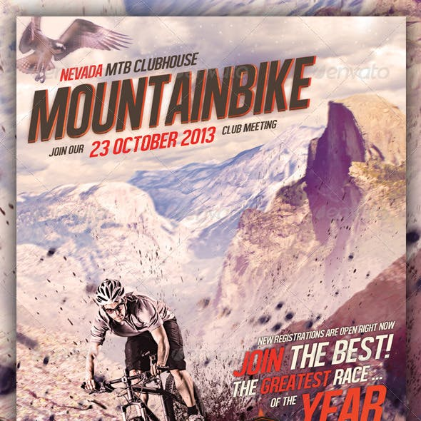 Mountain Bike / MTB Flyer A5 Size