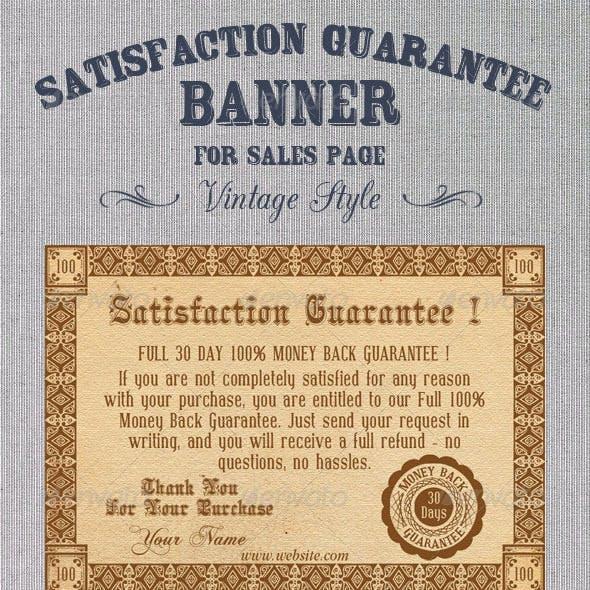 Satisfaction Guarantee Banner