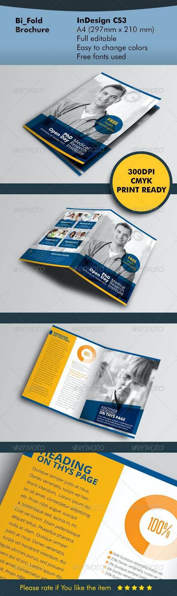 BiFold Brochure Blue - Informational Brochures
