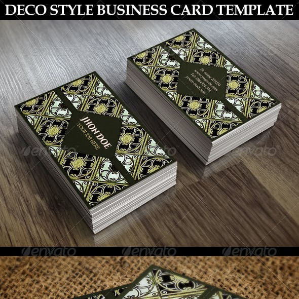 Decorative Style Business Card Template