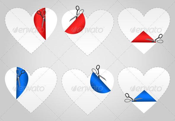Cut heart - Valentines Seasons/Holidays