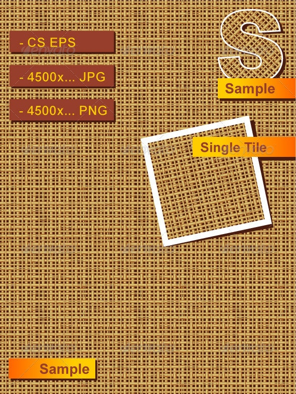 Seamless Burlap, Rattan or Wickerwork Background - Patterns Decorative