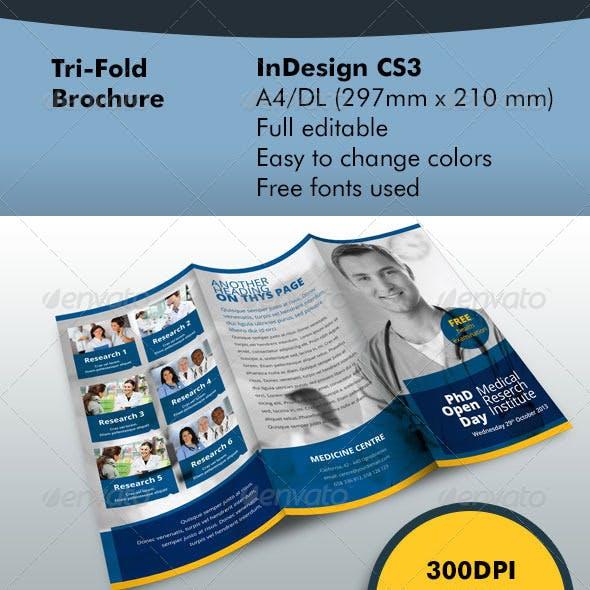 TriFold Brochure Blue