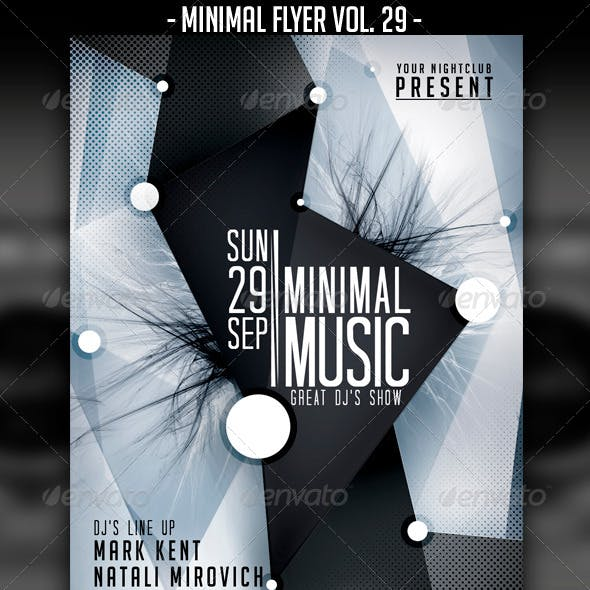 Minimal Flyer Vol. 29