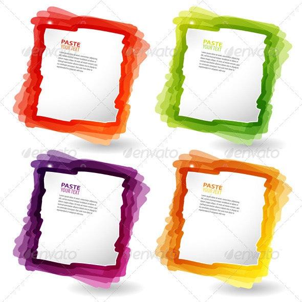 Colorful template - Borders Decorative