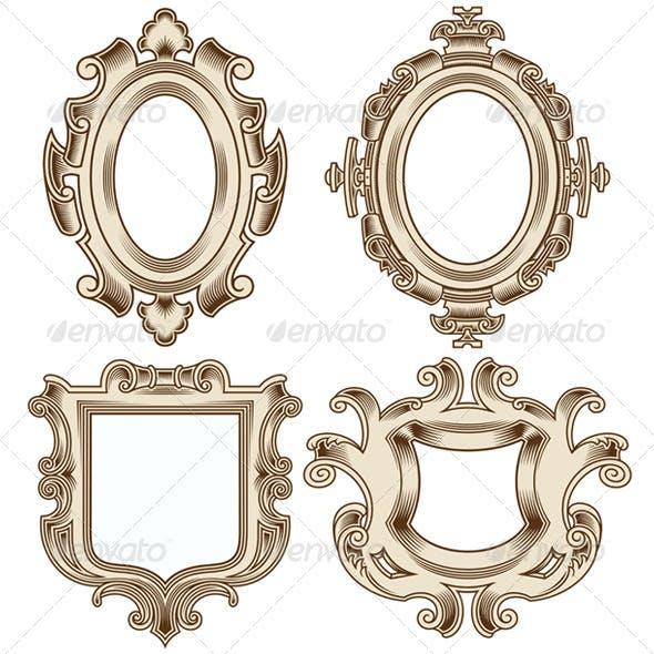 Set of Vintage Heraldic Frames