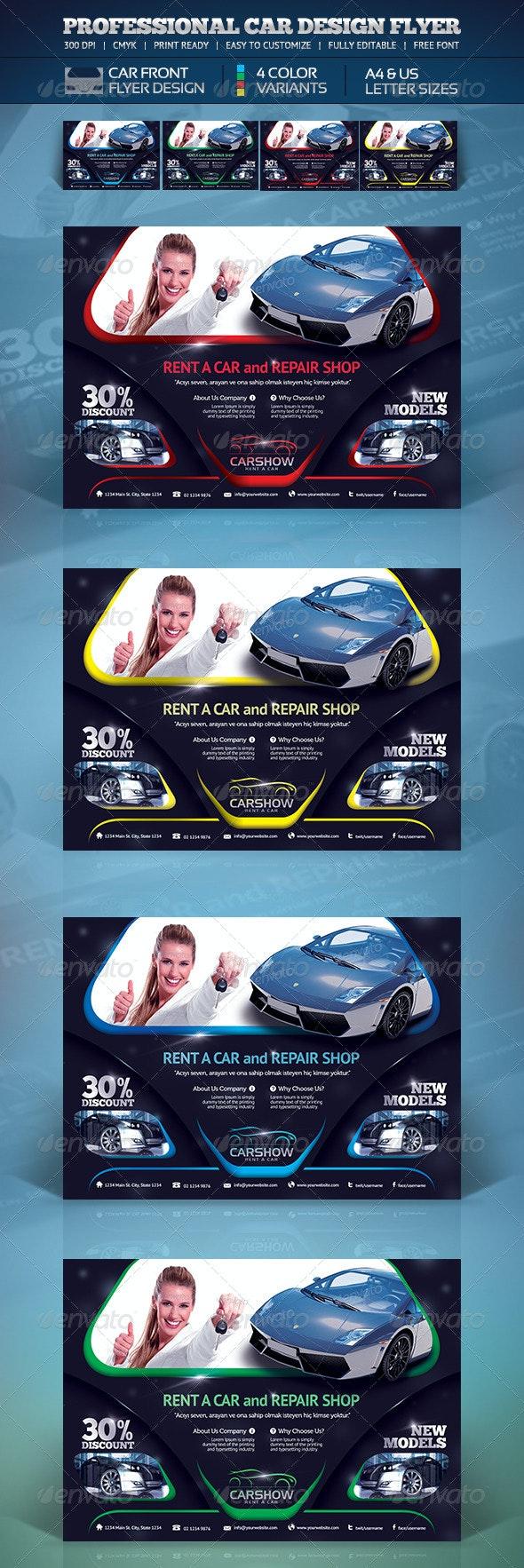 Creative Car Flyer - Corporate Flyers
