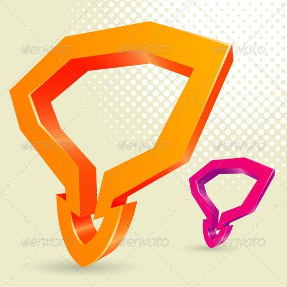 Abstract Arrow - Decorative Symbols Decorative