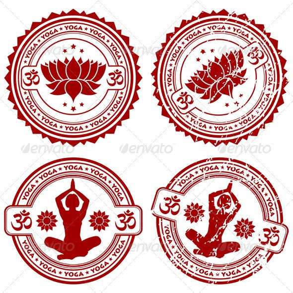 Collect Yoga stamps - Sports/Activity Conceptual