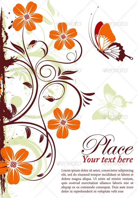 Floral frame - Flourishes / Swirls Decorative