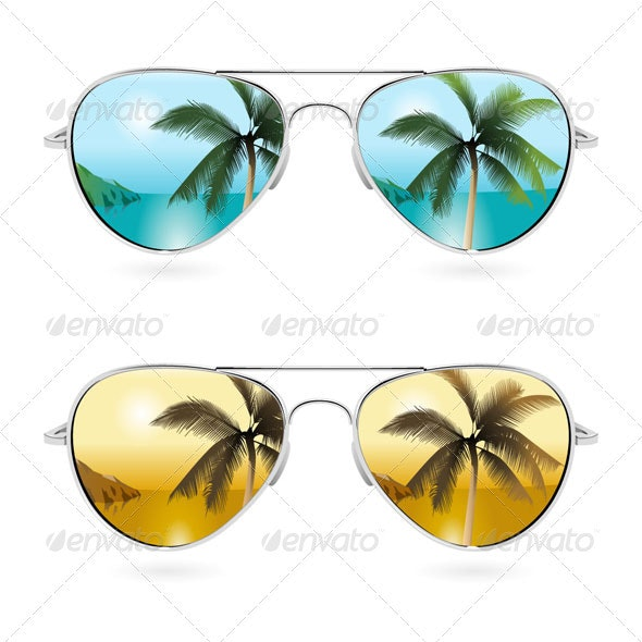 Aviator Sunglasses - Man-made Objects Objects