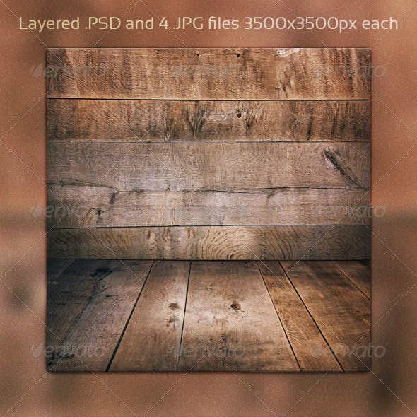 Wooden Room PSD Background
