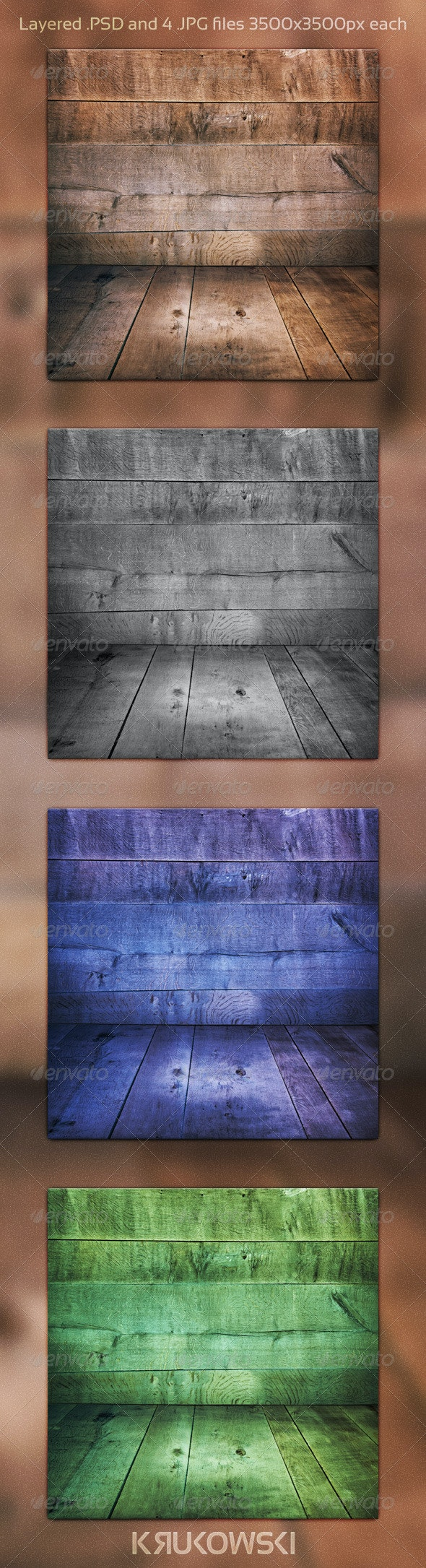 Wooden Room PSD Background - Nature Backgrounds