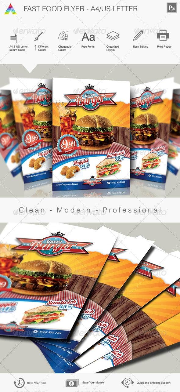 Fast Food Flyer I - Restaurant Flyers