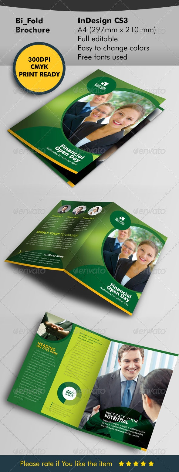 Bifold green designe - Print Templates