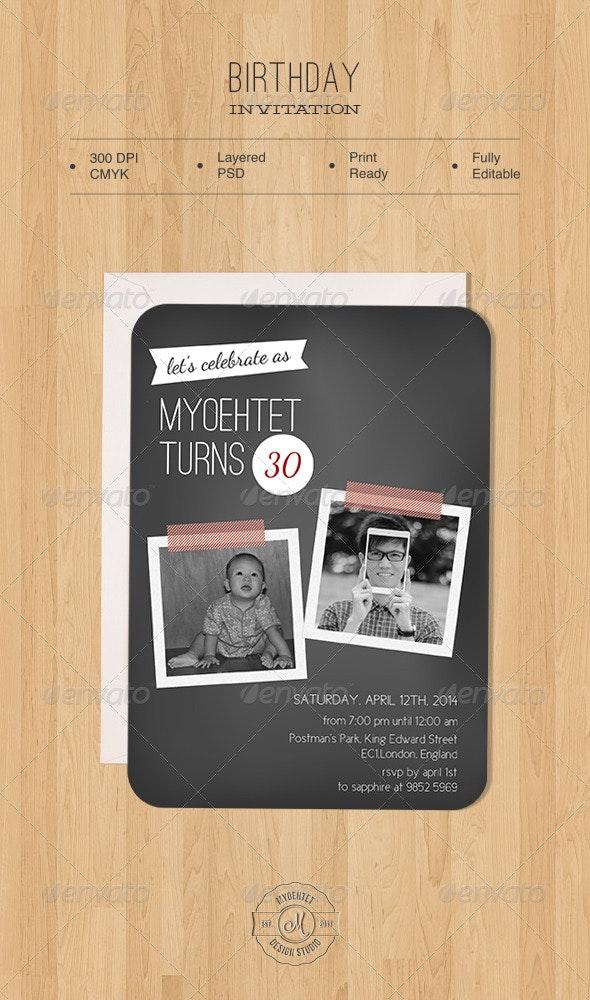 Birthday Invitation - Birthday Greeting Cards