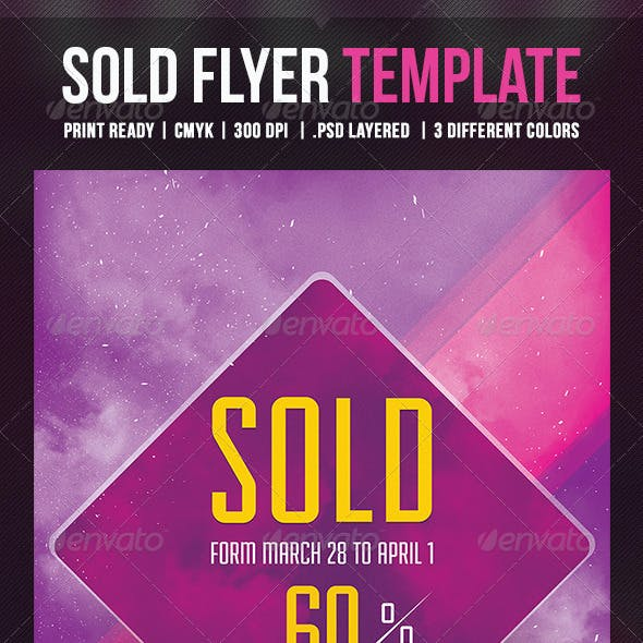 Sold Flyer Template