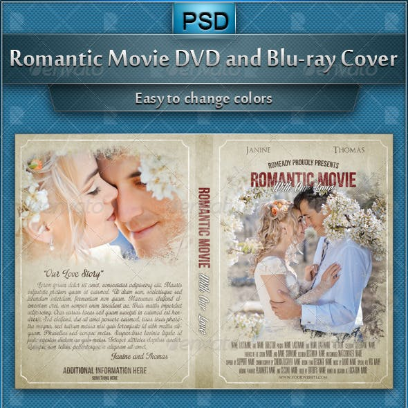 Romantic Movie DVD and Blu-ray Cover