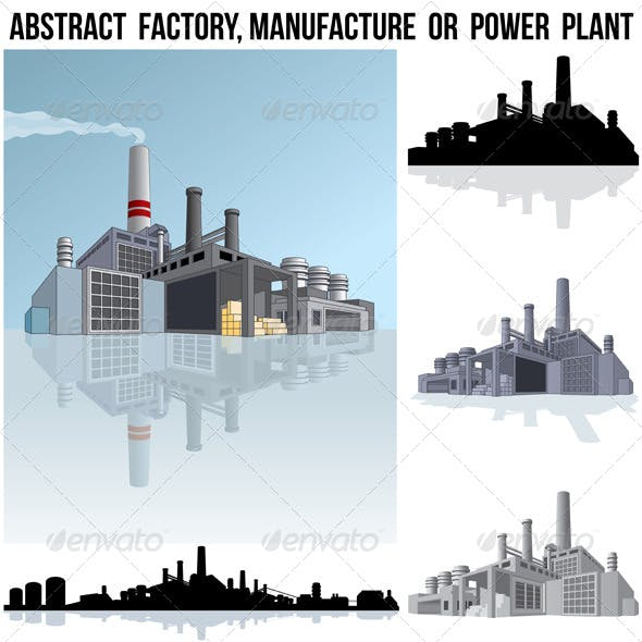 Industrial Factory or Power Plant