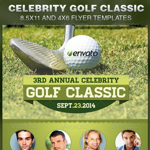 Celebrity Golf Classic Flyer Template