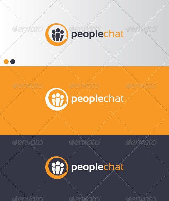 PeopleChat - Symbols Logo Templates