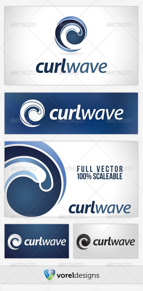 Curl Wave - Abstract Logo Templates