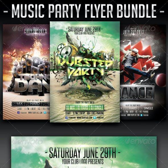 Music Party Flyer Bundle