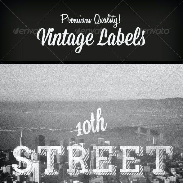 Premium Quality - 8 Vintage Labels / Col. N°3