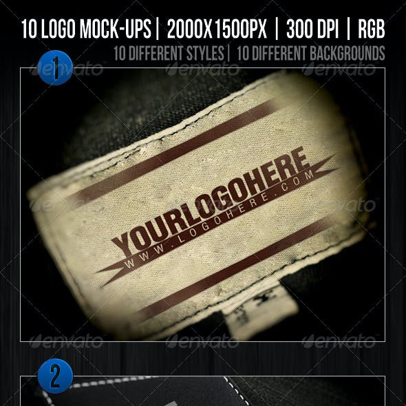 10 Logo Mockups Templates Vol.1