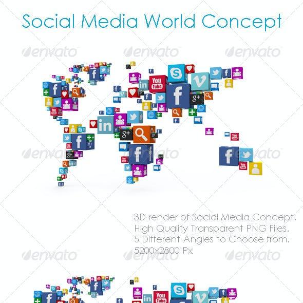 Social Media World Concept