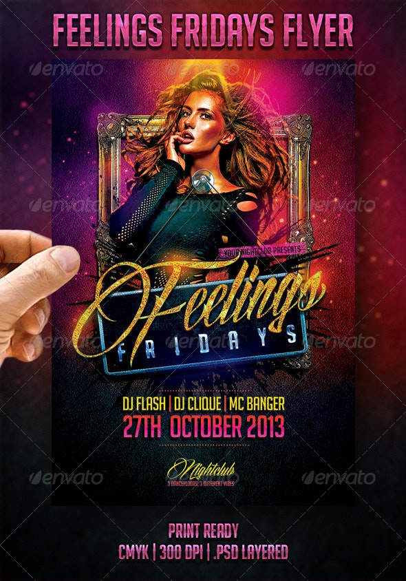 Feelings Fridays Flyer - Clubs & Parties Events