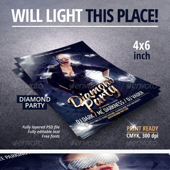 Diamond Party Flyer
