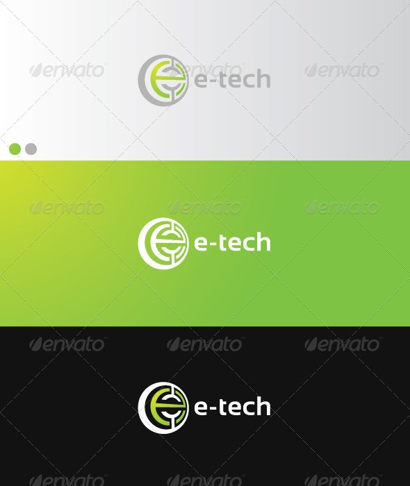 e-tech - Letters Logo Templates