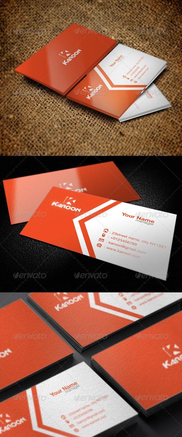 Creative Karoon Card - Corporate Business Cards