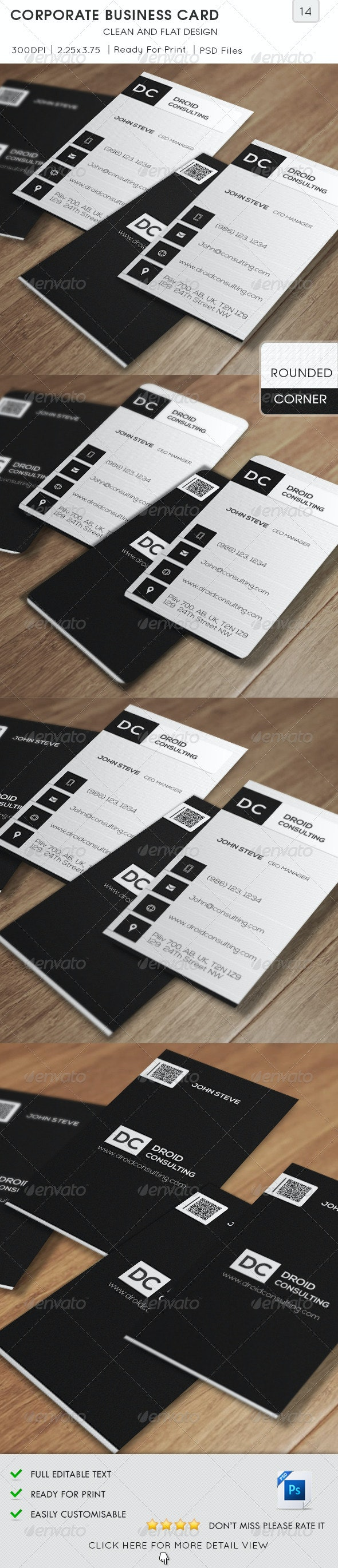 Corporate Business Card v14 - Corporate Business Cards