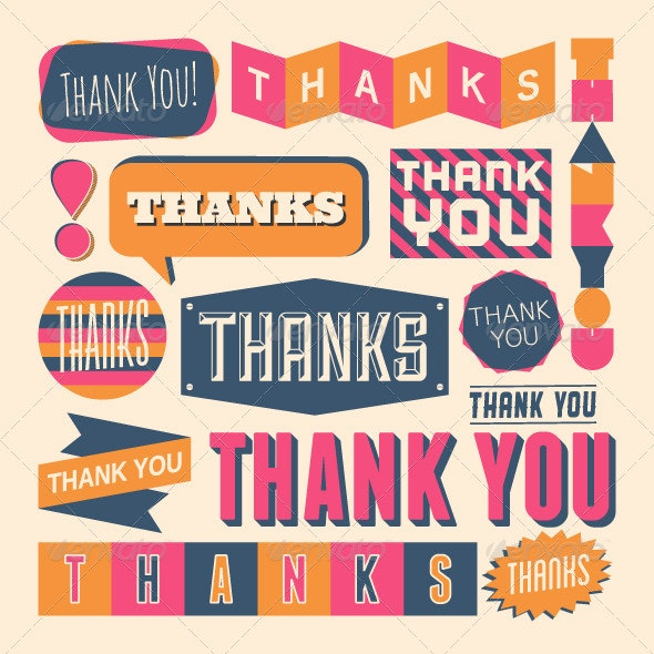Thank You Design Elements - Vectors