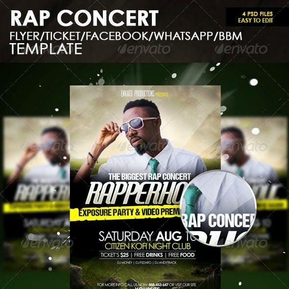 Rap Concert Flyer Template