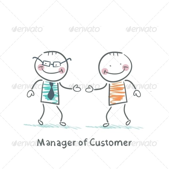 Manager Customer Greets with the Client