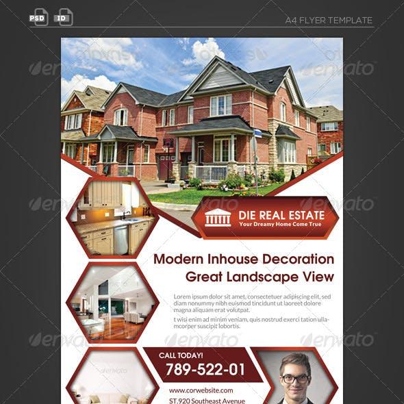 Real Estate Corporate Flyer - Hexagon