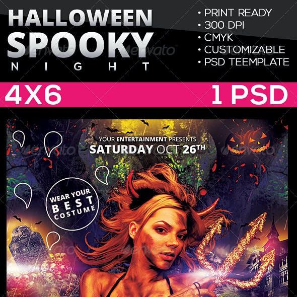 Spooky | Halloween Night Flyer Template