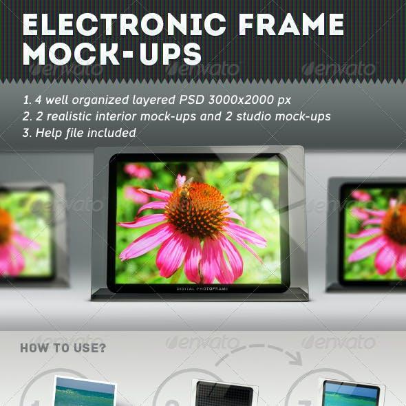 Electronic Frames Mock-Ups