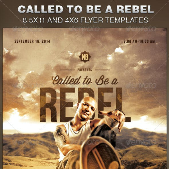 Called to be a Rebel Church Flyer Template