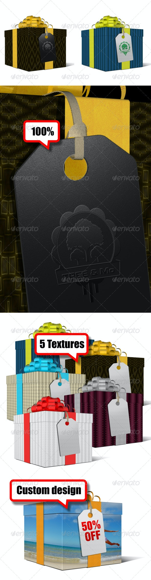 Gift Box - Packaging Product Mock-Ups