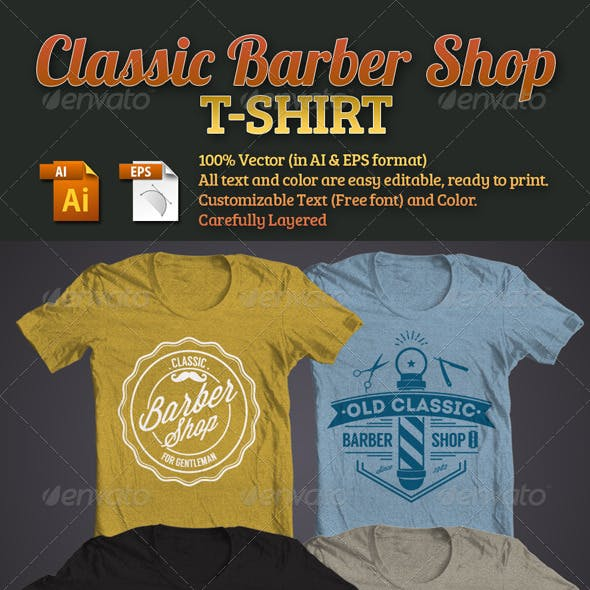 Classic Barber Shop T-Shirt