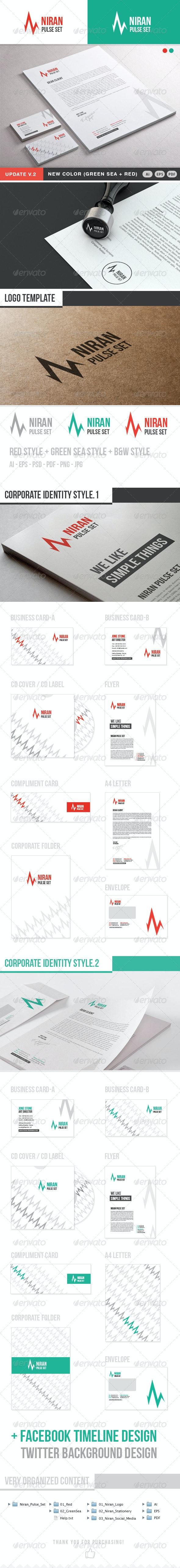 Niran Pulse Stationery - Stationery Print Templates