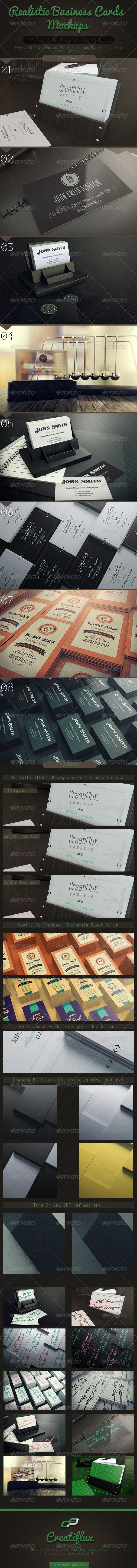 Realistic Business Cards Mockups - Business Cards Print