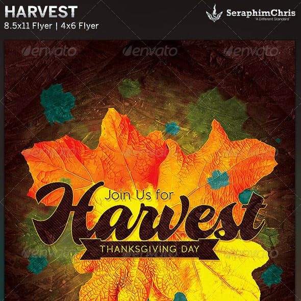 Harvest Thanksgiving: Church Flyer Template