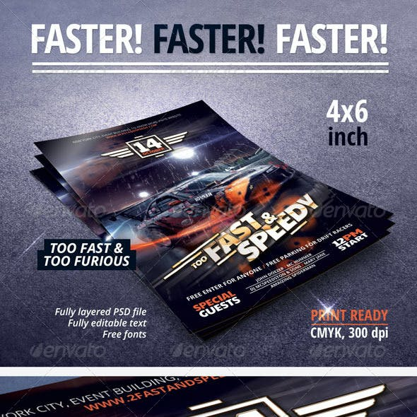 Fast & Speedy Party Flyer