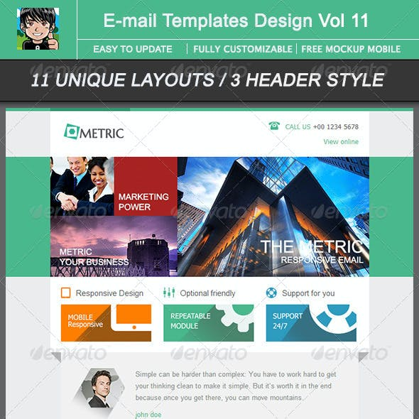 Metric-Email Template Design Vol 11