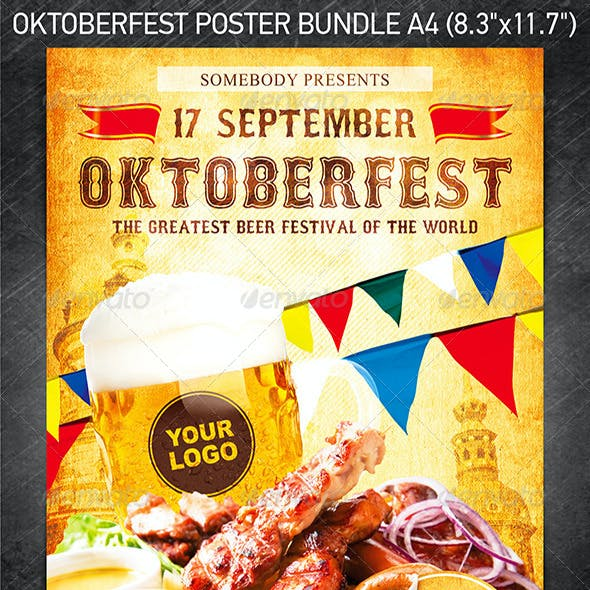 Oktoberfest Festival Poster Bundle
